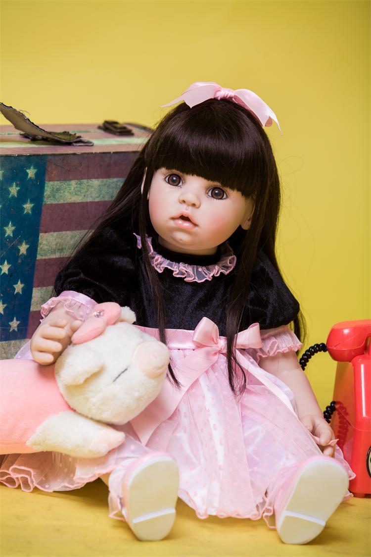 60cm Silicone Reborn Baby Doll Toys Like Real 24inch Vinyl Princess Toddler Babies Dolls Kids Birthday Present Girls Bonecas