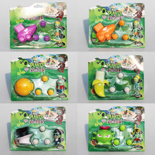 Hot 6 types Plants VS Zombies PVZ Figure Toys Agriculture Gun Coconut Zombies Banana Figures Toy Doll(China)