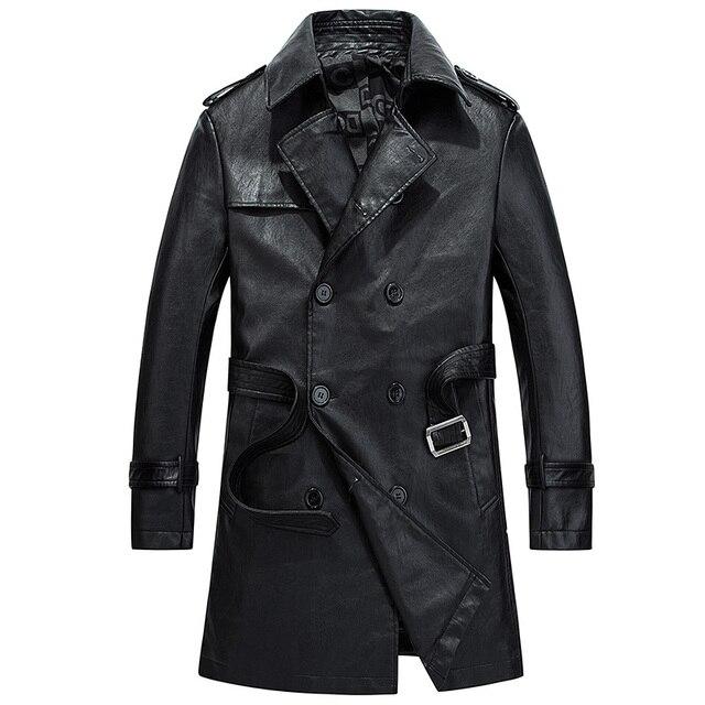 Veste hiver en cuir homme