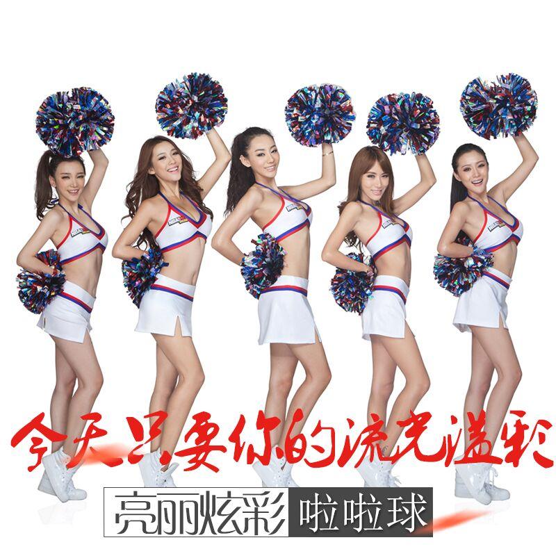 1 יחידות מתכתי מעודדת מעודדות Poms פום פרחי יד הצג ריקוד אירובי Pompoms עבור משחק כדורסל כדורגל פונפון