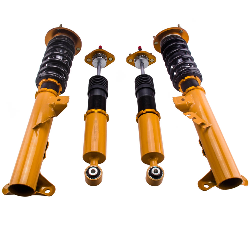 4pcs Coilover Suspension Damper Spring Front Rear Absorber 24 Way Damper Height Adjustable Coilover for BMW E36 Series 1991-1999