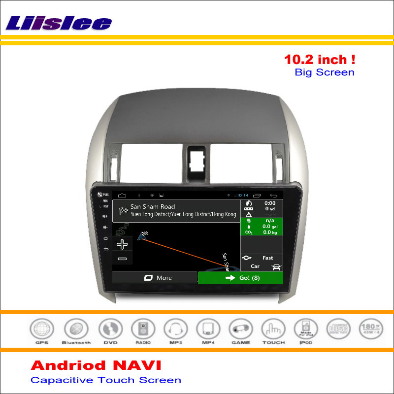 Excellent Liisle Android GPS NAV NVAI Navigation System For Toyota Corolla 2007~2013 Radio Stereo Audio Video Multimedia ( No DVD Player 0