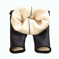 2018 new girls autumn and winter leggings plus velvet thickening children's warm pants Y121