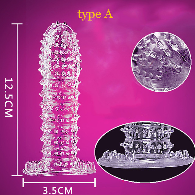 1PC New Time Delay Crystal Penis Rings Reusable Condom Penis Sleeves Penis Extender Cock Rings Adult Sex Toys For Men 5 Types