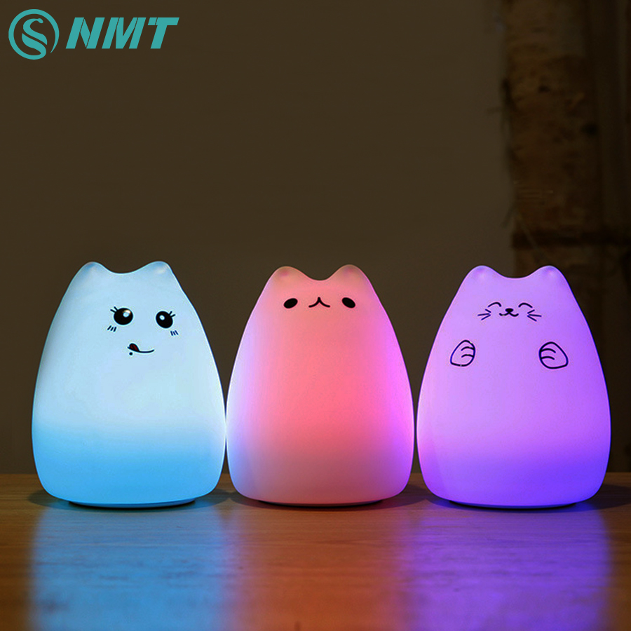 Silicon Animal LED Night Light Children Touch Sensor RGB Novelty Lighting Atmosphere Mood USB Rechargeable Table Lamp for Kids lumiparty smart bedside lamp touch sensor led night light rgb dimmable atmosphere led lamp intelligent mood nightlight
