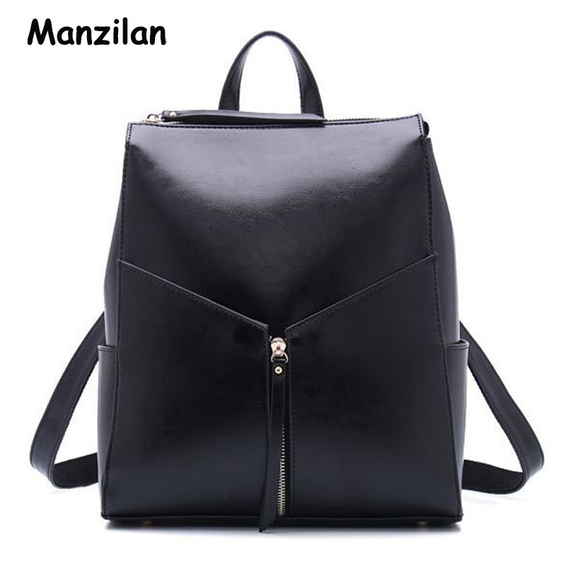 Hot Selling Genuine Leather Backpack Promotions Women s Backpacks Shoulder Bags Fashion Brand Cowhide Oil Wax