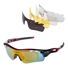 d5a97afcc5 TKOH LOFTWELL polarisées sport lunettes de soleil avec 5 interchangeables lentilles  pour hommes Femmes de Course Lunettes