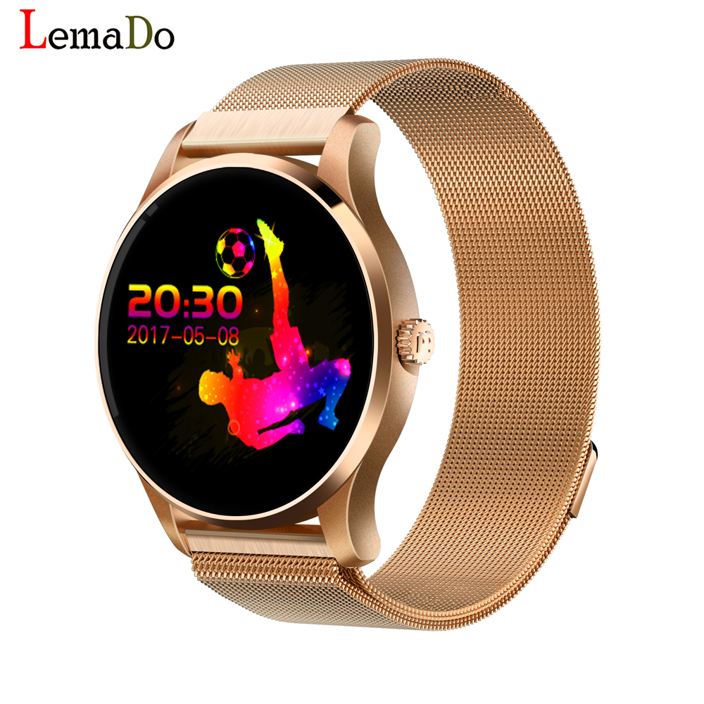 Lemado K88 Update K88H Smart Watch With IPS Screen Heart Rate Monitor Bluetooth Smartwatch For Android Xiaomi Apple IOS Phone 2016 update gv08 smart watch 15 inch 2mp