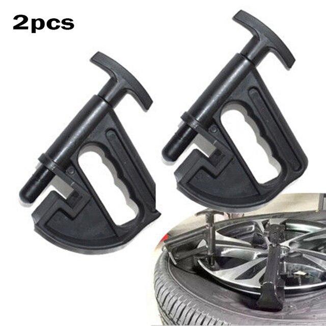 Plástico Universal 2 piezas portátil Manual cambiador de neumáticos cuentas herramientas de desmontaje abrazadera negro Nuevo 2018 útil