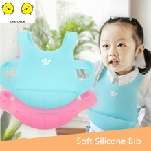 Newborn Baby Bibs Silicone Waterproof Feeding Bib Boy Girl Bavoir  Set