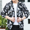 Uwback 2017 New Spring Thin Hooded Camouflage Jacket Men Plus Size Casual Fitness Men Jacket CAA378