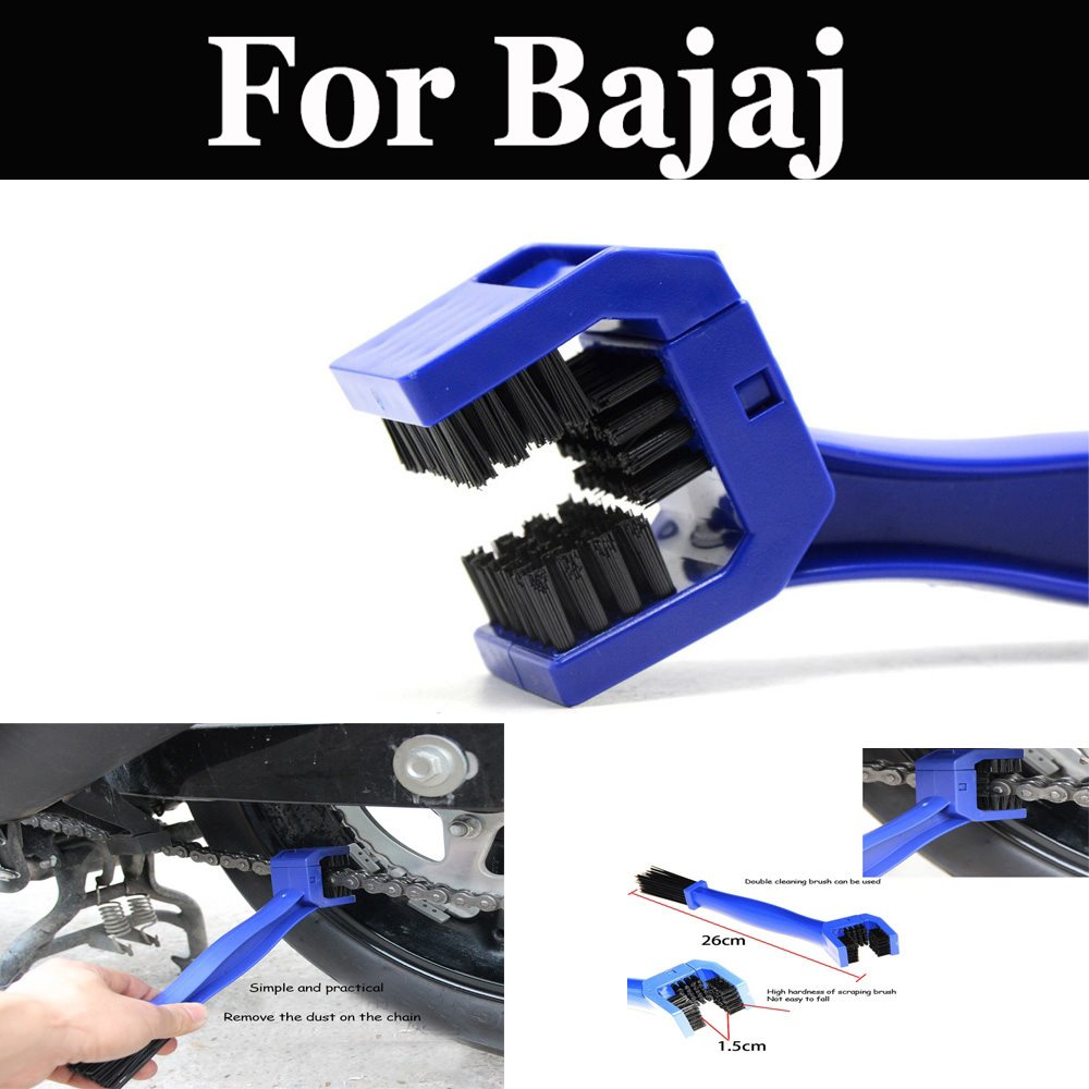 Motorcycle Bike Cycle Chain Maintenance Cleaning Brush Brake Dirt For <font><b>Bajaj</b></font> <font><b>Pulsar</b></font> 135 Ls 150 180 Dts-I <font><b>200</b></font> <font><b>Ns</b></font> 220 Dts-I image