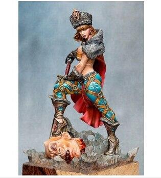 Scale Models 54mm female warrior figure model resin kit Free Shipping