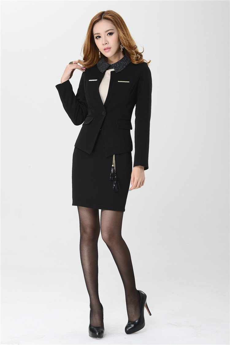 Plus 4xl Formelle Picture Custom Picture Nouveau 2015 Jupe Noir Élégant Taille Costumes As as Blazers Haute Qualité La Made Et Professionnel Manteau Mode gUZBYw