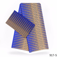 Ankara African Print Fabric For Nigerian100% Modal Wax Chiffon Silk Satin 4yards+2yards/piece 917-1
