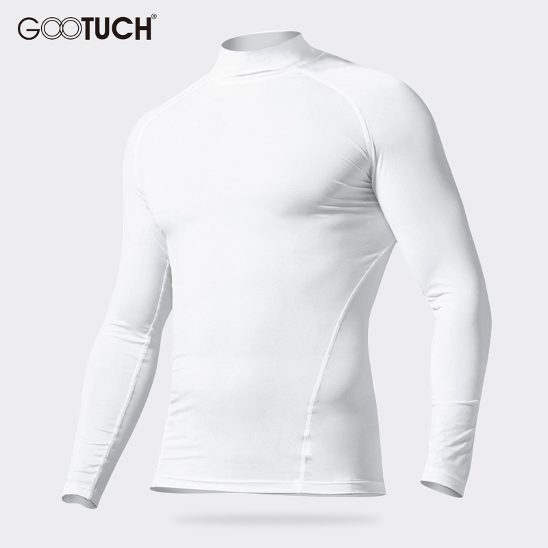 Mens Cotton Long Johns Tops Male Winter Thermal Underwear Tops Mens High Colar Long Sleeves Keep Warm Breathable Undershirt 2572