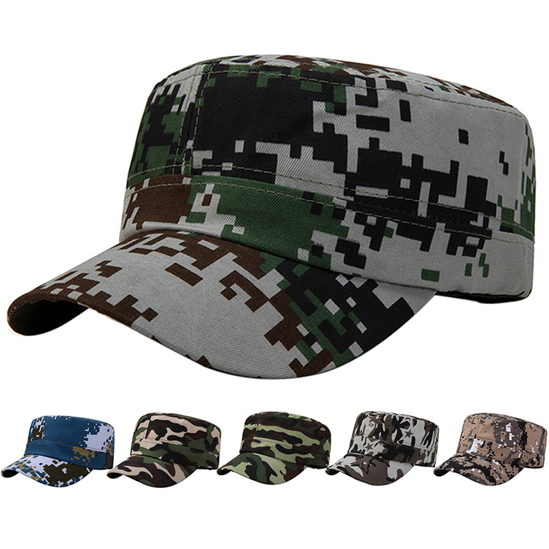 Tactical Cap Outdoor Sport Snapback Stripe Caps Camouflage Hat  Military Army Camo Hunting Cap Hat For Men Adult Cap