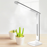 LAIDEYI New 6W LED Desk Lamp 3 Levels Foldable Dimming USB Rechargeable Desk Lamp Eye Protection Study Office Touch Table Lamp