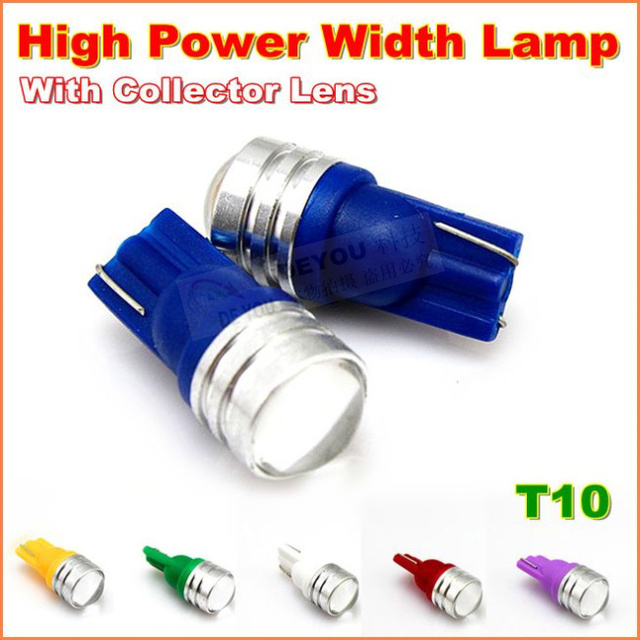 2pcs/lot Super Bright T10 Wedge LED Light Bulb replacement W5W 168 2825 194 Car Signal Trunk Parking Interior Lights