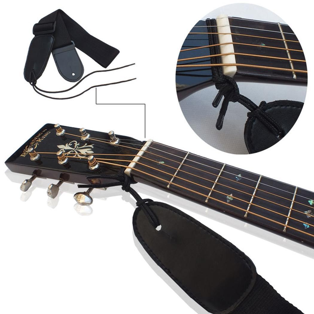 Logical Adjustable Durable Nylon Guitar Strap Electric Acoustic Bass Guitar Strap Irin Ukulele Belt With Pu Leather Ends