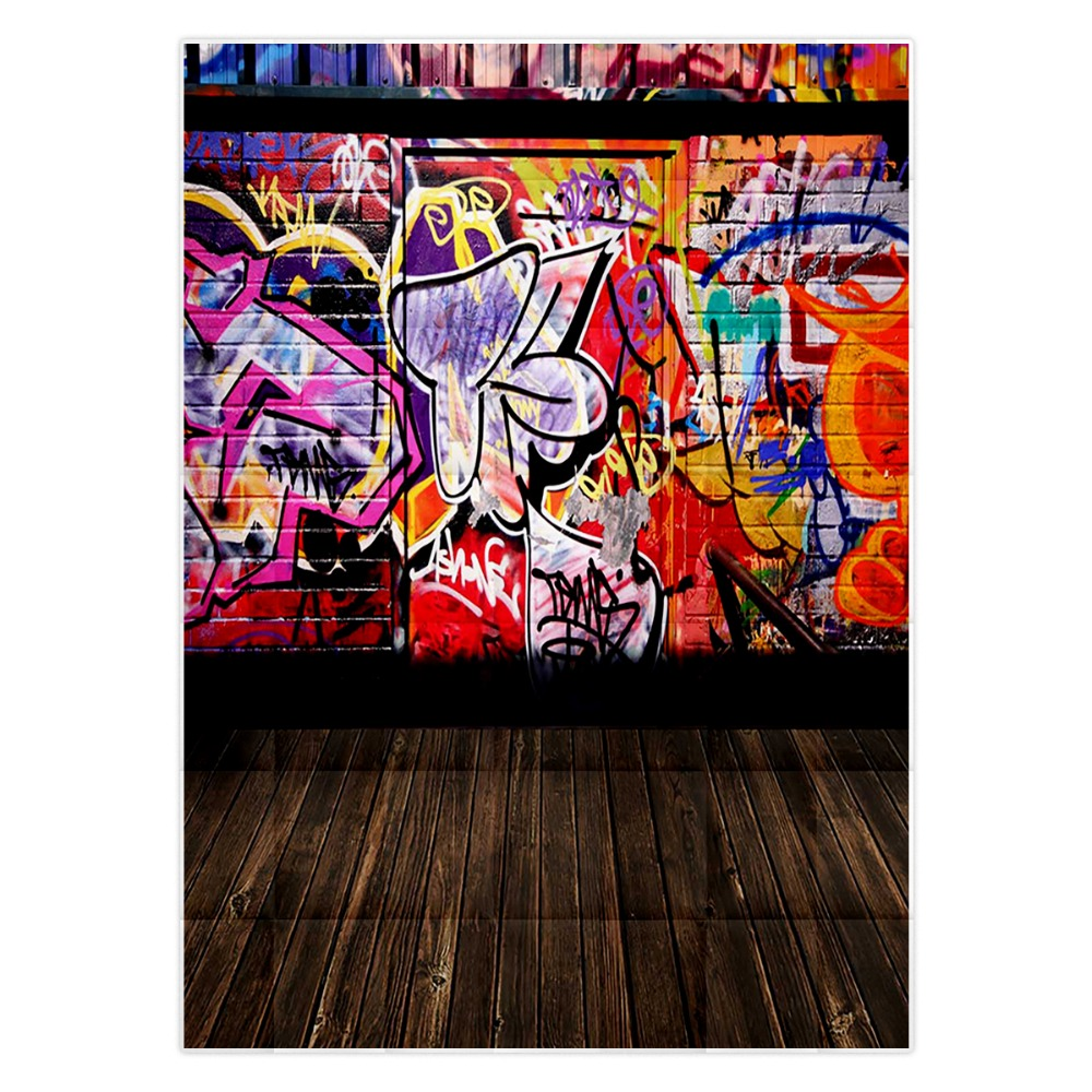 Christmas Graffiti Background.Us 9 45 32 Off Allenjoy Photographic Background Brick Wall With Graffiti Door Backdrops Children Christmas Summer Fabric 8x8 In Background From