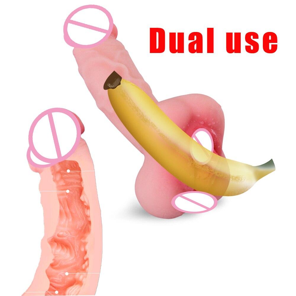 Bombomda Dupla utilização partilha Vibrador masturbador para o Sexo Masculino boneca sexual realista vaginal feminino sex doll vagina simulação dildo
