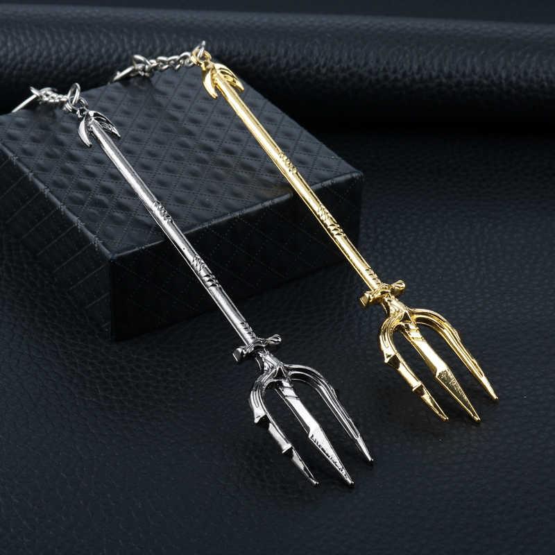 Aquaman Keychain Đồ Trang Sức Sáng Tạo Hợp Kim Mặt Dây Chuyền Dây Đeo Chìa Khóa Ba Lô Xe Keyholder