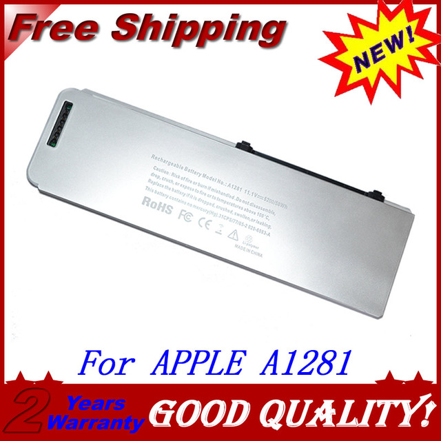 """JIGU White Laptop battery For Apple A1281 MB772 For MacBook Pro 15"""" A1286 (2008 Version) MB772*/A 10.8v 45wh"""