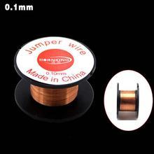 1 шт. 0,1 мм медный припой пайки PPA эмалированные катушки провода Перемычки провода