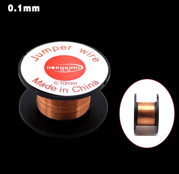 1PCS 0.1mm Copper Solder Soldering PPA Enamelled Reel Wire Jumper Wire