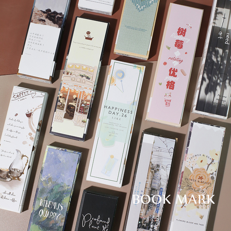 30PCS/Pack Kawaii Town Travel Coffee Bookmark Paper Bookmarks Page Marker Stationery School Office Supplies Papeleria Sl1880