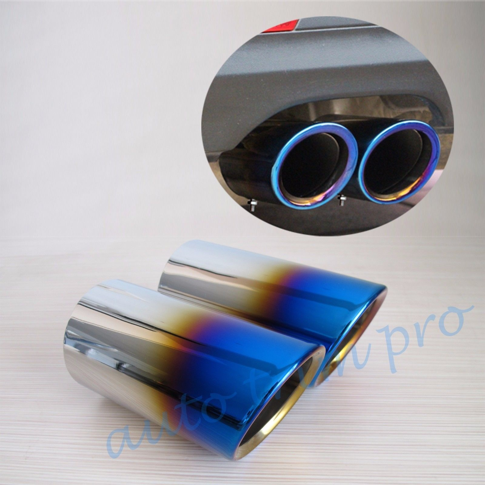 2pcs Rear Muffler Tail Pipe Exhaust Silencer Fit For BMW E90 E92 E93 325 328 2006-2010 Accessories