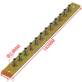 Venta al por mayor y al por menor 20pc cobre plateado niquelado fibra de vidrio torreta tira 12pin Leng Tag Board envío gratis