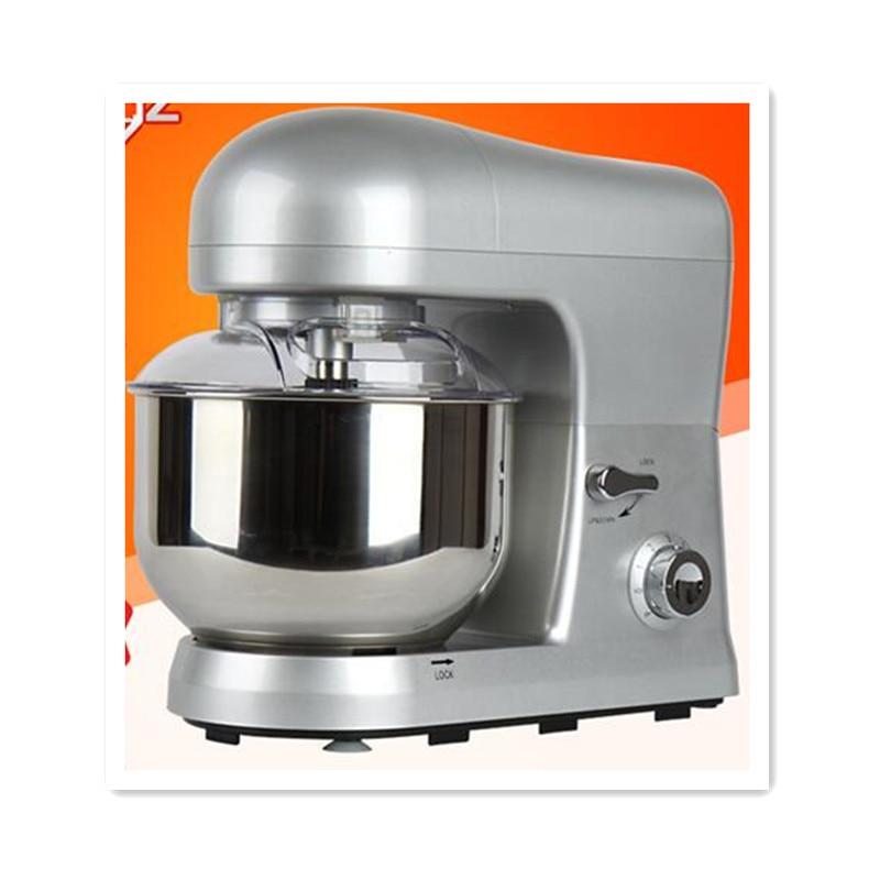 110V 6 Gear 5L Multifunctional Electric Dough Mixer Egg Beater Milk/MilkShake/Cake Mixer Food Blender For Kitchen Stand Machine stainless steel manual push self turning stirrer egg beater whisk mixer kitchen wholesale price