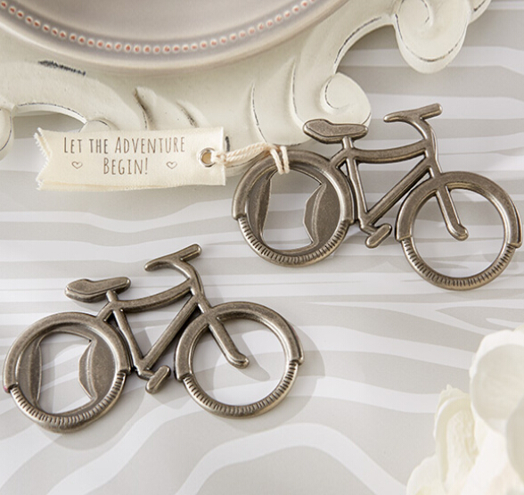 (DHL,UPS,Fedex)FREE SHIPPING+50pcs/Lot+Lets Go On an Adventure Silver Bicycle Bottle Opener in Gift Box Wedding Favors