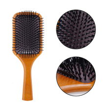 Wooden Air Cushion Bamboo Massage Comb Scalp Massage Anti-static Hair Vent Brushes Care Air Cushion Massage Comb Scalp Massage Brush for Thick Long Ha professional health care comb anti static massage green sandalwood comb handmade bamboo hair brush wedding birthday gift
