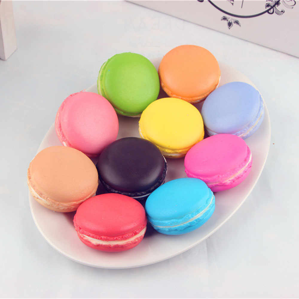 2019 Simulation Macaron Food Squishy Super Slow Rising Kid Toy Decompression Surprise Funny Toys for Children Dropshipping