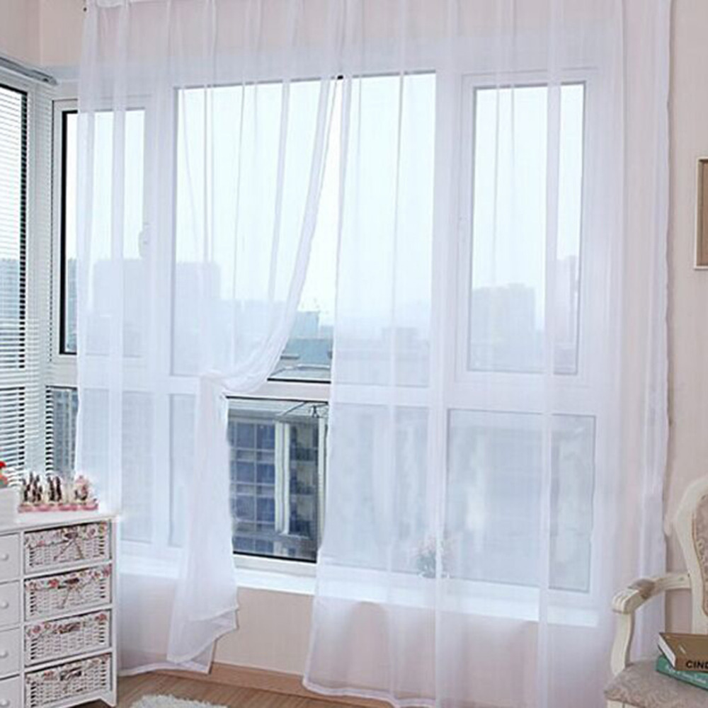Simple window curtains - Simple Design Tulle Curtains For Living Room Balcony Transparent Tulle Curtains Window Sheer For Wedding Bedroom Decoration