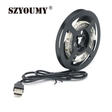 SZYOUMY 50Pcs Waterproof SMD 3528 5V USB Decoration TV Background lighting String LED Strip light 1.5M 2M lamp Tape Ribbon