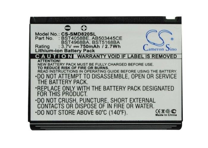 Кэмерон китайско 750 мАч Батарея AB503445CE, bst4058be для Samsung D730, D800, <font><b>D802</b></font>, d806, d807, d820, d828, d870, E788, для softbank 707sc2