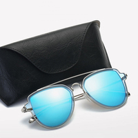 2018 New Men's and Women's Sunglasses Fashion Dual Polarizers Metal Trend Women Sunglass WD0889