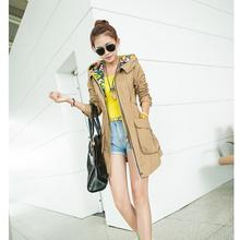 2015 Spring New Products in The High-end Women's Clothing Brand Ladies Fashion Leisure Long Loose Big Yards Lady Trench Coat