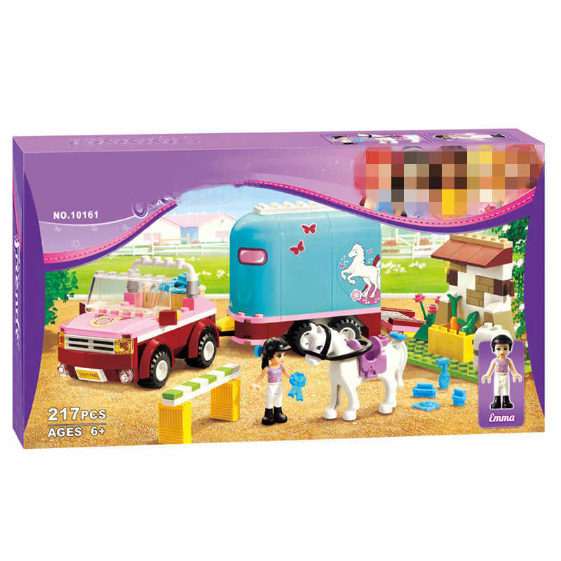BELA Friends 10161 Horse Farm Emma's Trailer Building Brick Blocks Sets Girls Toys DIY Educational Toys 3186