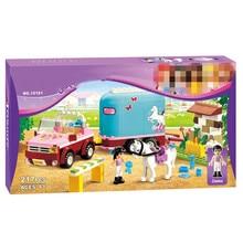 BELA Friends 10161 Horse Farm Emma's Trailer Building Brick Blocks Sets Girls Toys DIY Educational Toys 3186
