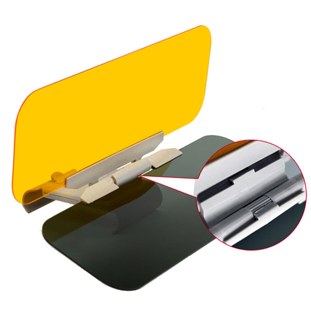 High Quality Vehicle Truck Day Night Use Driving Glass Mirror Visors Shade Style ABS shown in details Inside the car careslong