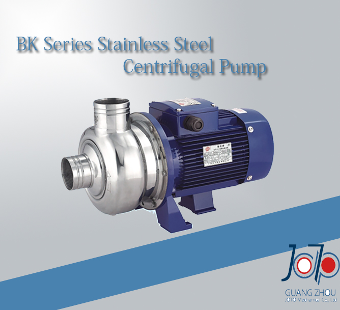 BK150 380V 50Hz Three Phase Stainless Steel Centrifugal Water Pump Solid Impurities Pump With Semi open
