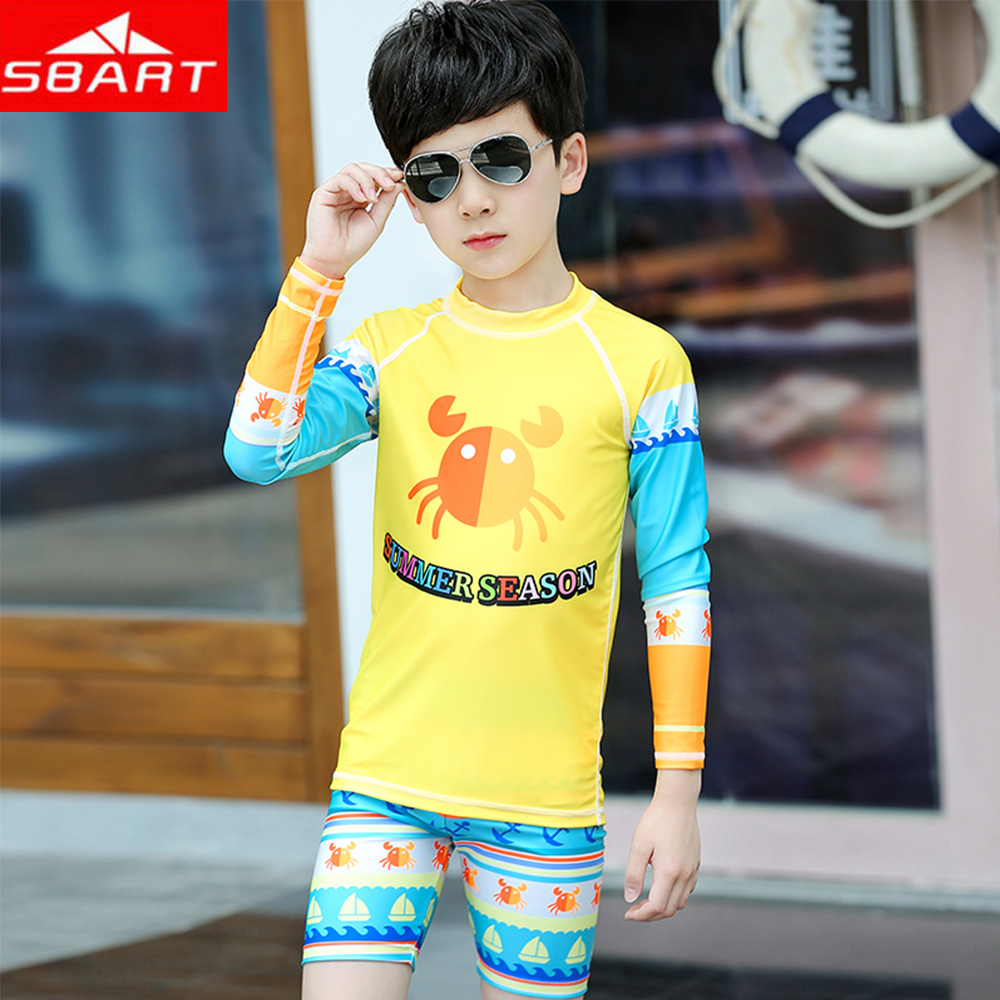 2019 Direct Selling New Arrival Sbart Children's Summer Swimsuit Boy Split Beach Sunscreen Quick-drying Two-piece Top+shorts