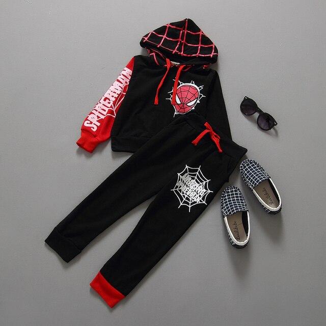 a53f03ad57292 Spiderman Enfants Garçons Vêtements ensemble Bébé Garçon Spider man Sport  Costumes 2-6 Ans Enfants