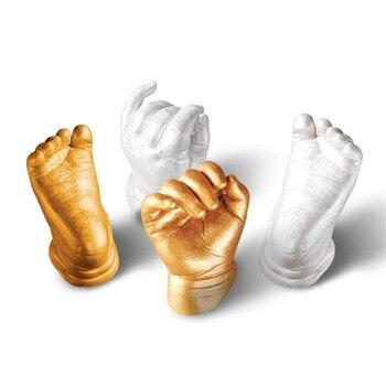 Nouveau 1 Set 3D Plâtre Empreinte empreinte de la main Bébé Moule Main et Pied Coulée Impressions Kit Fonte Cadeau DIY Net De modèle Poudre 34