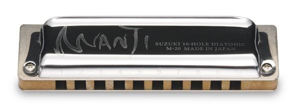 SUZUKI MANJI M 20 10 hole Blues harmonica Diatonic Key Of C